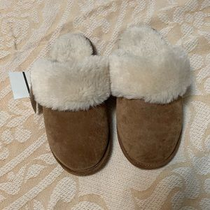 Fauxfurtan kids slippers